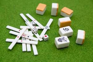 麻雀牌と点棒