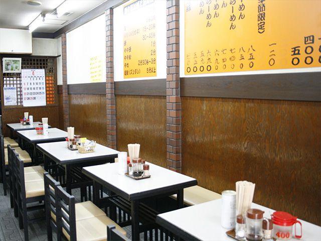 長浜ラーメン 一二三の店内風景