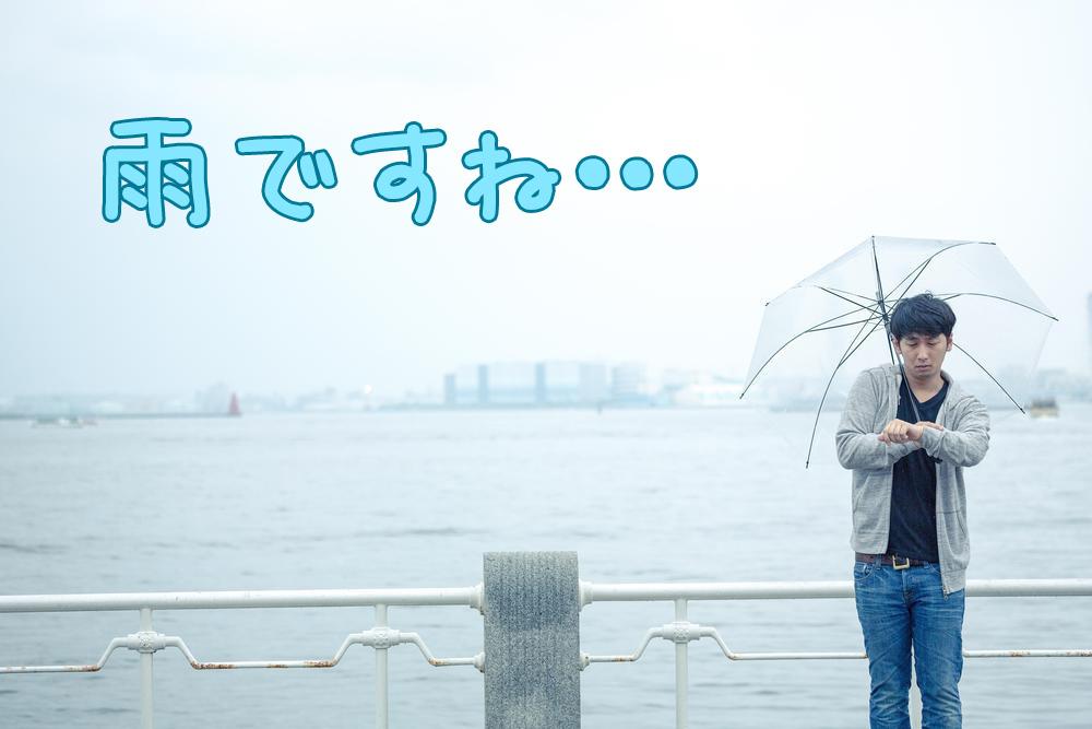 雨ですね…